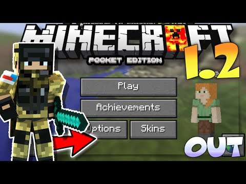 MINECRAFT PE 1.2 OUT!? - MINECRAFT PE 1.2 OFFICIAL LEAKED GAMEPLAY - MCPE 1.2.0 LEAKED GAMEPLAY