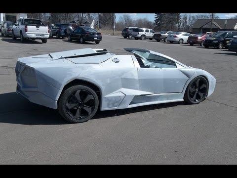 Lamborghini Reventon Replica First Test Drive with Body Mounted - Kit Car
