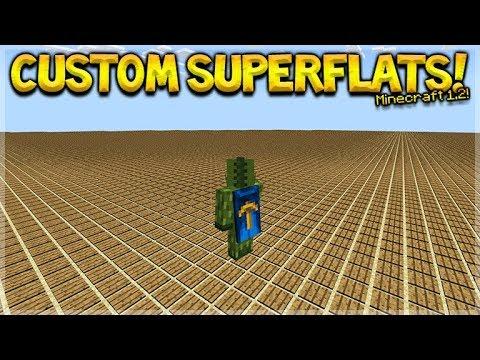 CUSTOM SUPERFLAT IN 1.2 - Minecraft 1.2 BETA How To Create Custom Superflat Worlds