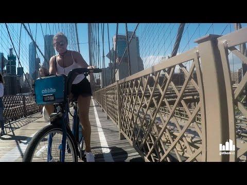 Traffic Jam: Hair-Raising Bike Ride Over The Brooklyn Bridge
