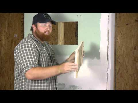 How to Build Drywall & Wood Trim Access Panels : Repairing Walls