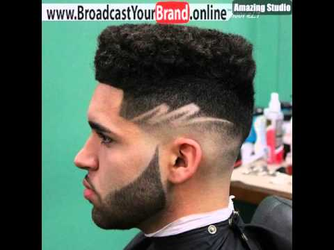 Black Flat Top With Fade And Design