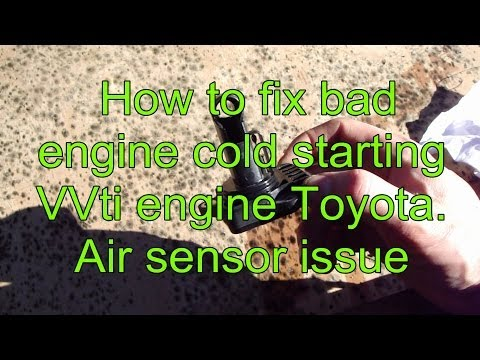 How to fix bad cold starting VVT-i engine Toyota Corolla