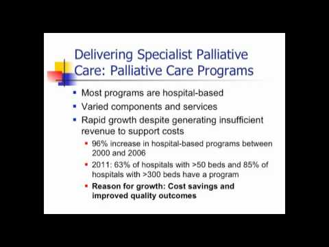 Palliative Care and Hospice: Evolving Systems in an Era of Reform