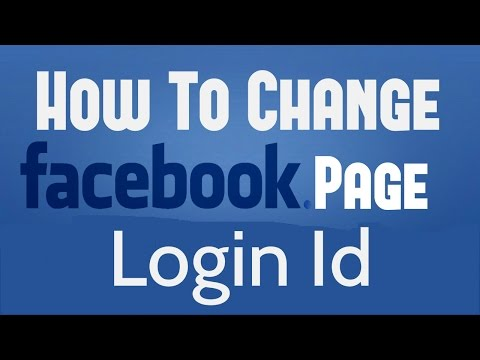 How To Change Facebook Page Login ID Address / Email-ID Address
