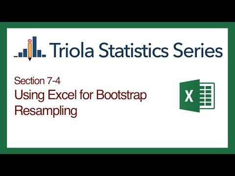 Excel Section 7-4: Using Excel for Bootstrap Resampling