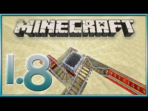 MineCraft 1.8 MineCart Rail Tricks! (Updated Features)