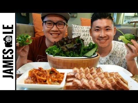 BOSSAM MUKBANG (보쌈) - KOREAN PORK BELLY