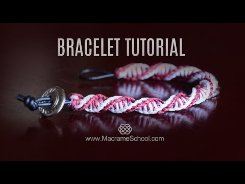 DNA Spiral Bracelet Tutorial [DIY Double Helix] Macrame School