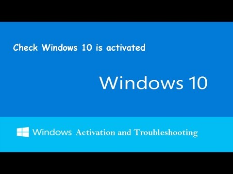 Windows 10 Activation - How to Verify