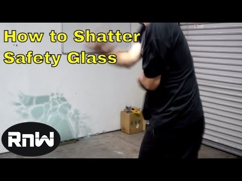 Super Easy Way to Break Safety Glass in an Emergency - MUST SEE IT'S PRETTY FUN