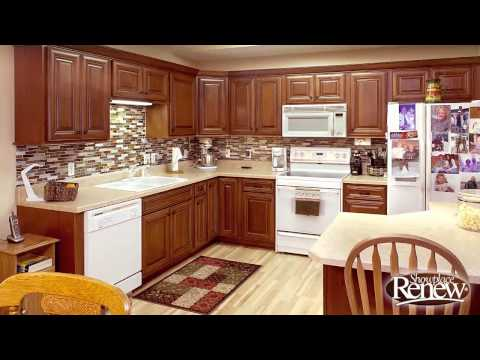 From basic oak to elegant cherry with Renew cabinet refacing