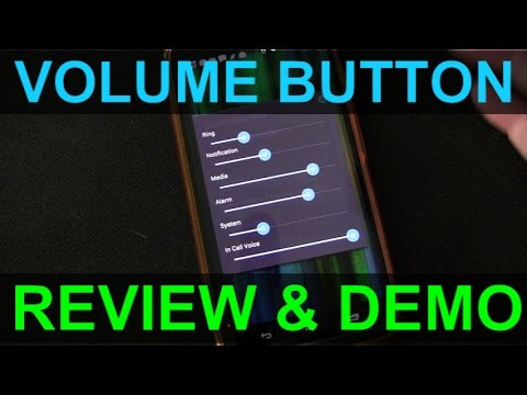 Volume Button Android App Review and Demo - Quick Volume Control of All Sound Channels or Streams