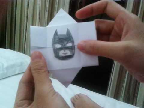 Folding paper game Batman, Hulk, Spiderman