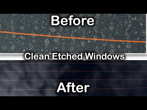 HOW TO: REMOVE WATER STAINS FROM WINDOWS