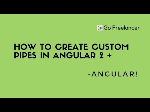 How to create Custom pipes in Angular 2 +