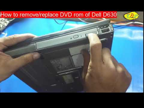 how to replace CD / DVD rom of Dell D630 Laptop / replacement of CD rom