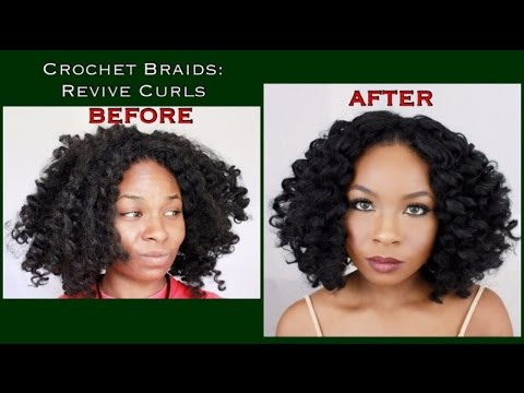 How To: Refresh Crochet Braids + Revive Curls