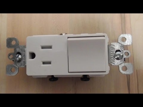 Converting a Light Switch to a Switch / Outlet Combo DIY LVT1739 T-5625 Decora Levition