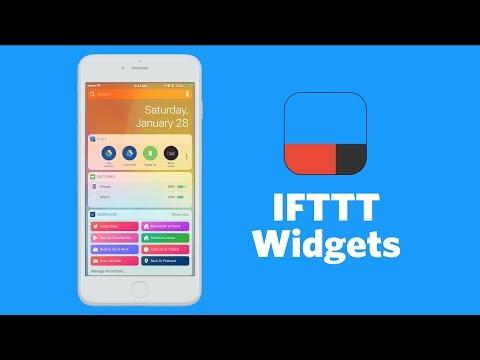 IFTTT Widget Walkthrough