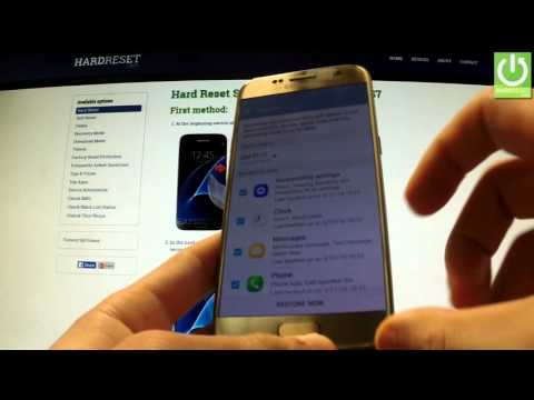 How to Restore Data with a Samsung Account  - SAMSUNG G930F Galaxy S7 Restore