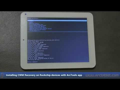ClockworkMod Recovery (CWM) easy install on Rockchip devices with