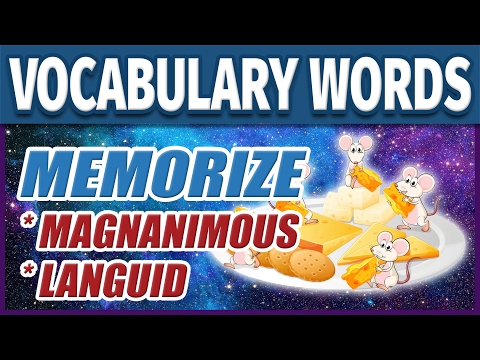 📖 How to Learn English Vocabulary Words - Magnanimous & Languid | Memorize College SAT Vocab