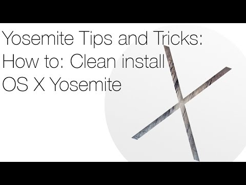 How to: Clean Install OS X Yosemite