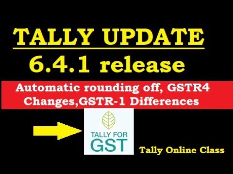 Tally New Release Update/Automatic Rounding Off/GSTR-1allow Tax Differences