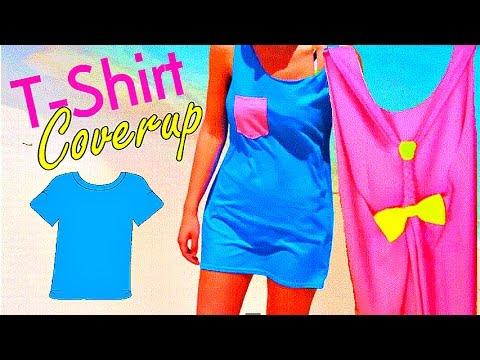 DIY T-Shirt Beach Swimsuit Coverup :: 2CupsofDelight