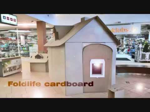 How to make cardboard house. Retail decoration project. Time lapse example.
