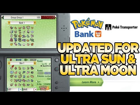 Pokemon Bank is Live for Pokemon Ultra Sun and Moon | Austin John Plays