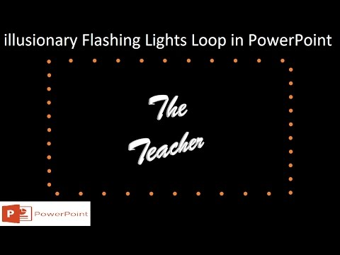 illusionary Flashing Lights Loop | Motion Graphics in PowerPoint 2016 Tutorial