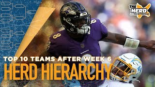 Herd Hierarchy: Colin ranks the top 10 teams in the NFL after Week 6   NFL   THE HERD
