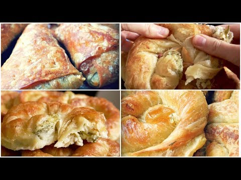 Easy Homemade Puff Pastry Dough From Scratch / Cheese Rolls and Apple Turnovers Recipe