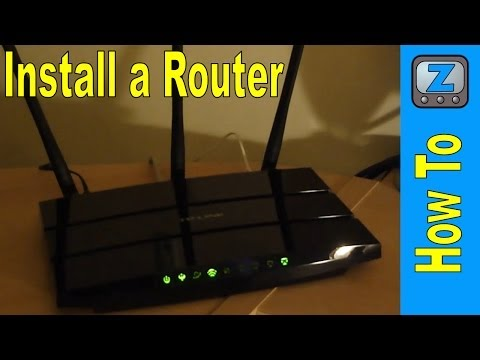 How to Install and Setup a Router (TP-Link TD-W8970)