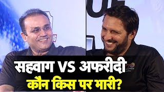 Sehwag vs Afridi : It's India vs Pakistan of a Different Kind | Sports Tak | T10 League