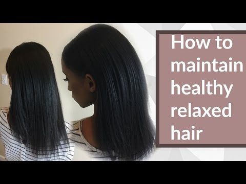 Healthy relaxed hair routine for long healthy hair