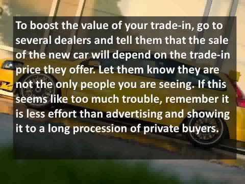 How to Get the Most Value for Your Trade-in