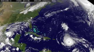 Satellite Animation Tracking Category 5 Hurricane Irma