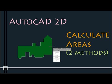 AutoCAD 2D - Calculate areas (2 methods - easy and fast way)