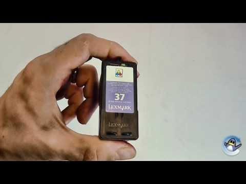 Inside Lexmark 37 (18C2140E) Colour Ink Cartridge