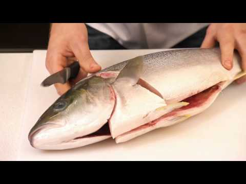 Filleting A Whole Kingfish