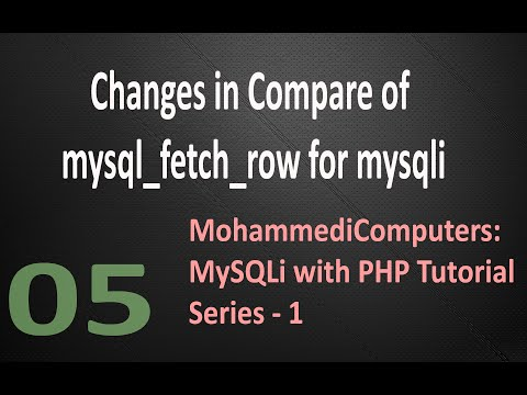 05 MySQLi PHP Tutorial - Display Record - Fetch Row - mysql_fetch_row function