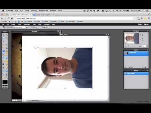 Pixlr Editor Tutorial #1: Wanted Poster