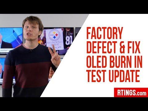 Factory Defect & Fix - OLED Burn in Test Update Week 10 - Rtings.com