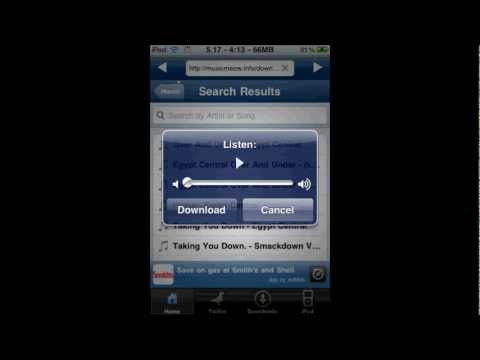 How To Get Free Music On Ipod Touch, Iphone, or Ipad Without Dtunes(Jailbroken)