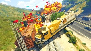 GTA 5 Mods - STOPPING THE TRAIN MOD! (GTA 5 PC Mods)