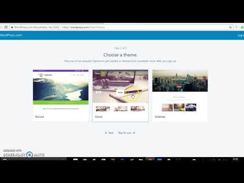 Creating website using wordpress