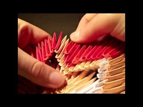 how to make a 3d origami colourfull star